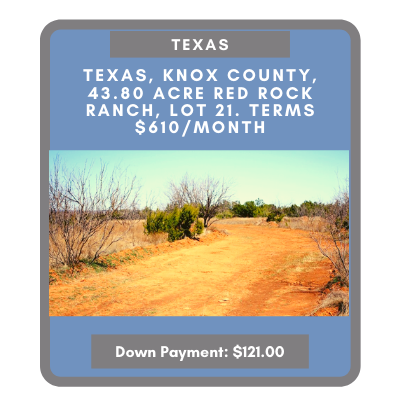 Land for sale in Texas