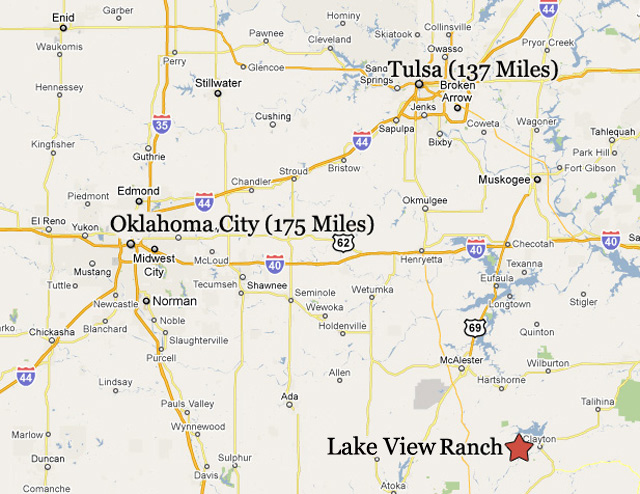 View Lakeview Ranch - Clayton, Oklahoma in a larger map