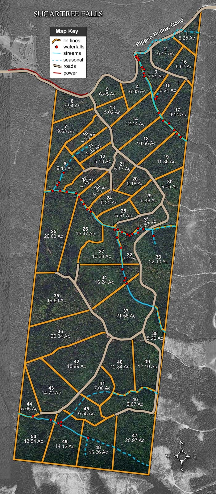 7.94 acres of Residential Land for sale. Pigpen Hollow Road, Sugartree Falls, TN