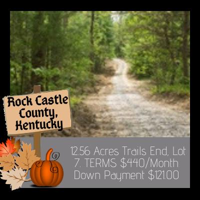 Land for sale in Rock Castle County Kentucky